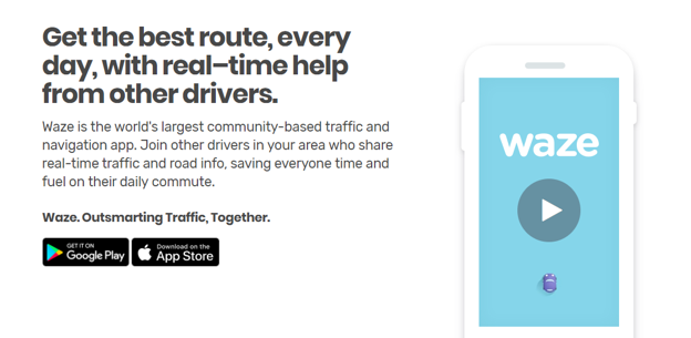 Waze is a traffic app that utilises crowdsourced intelligence to give a full and complete picture of traffic routes across the world.