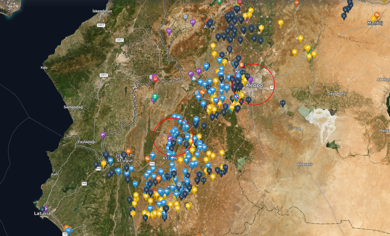 Image shows significant incidents amidst COVID-19 in Syrian in 2020 to date.