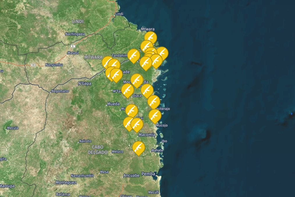 Security incidents and threats to the Oil and gas industry in Mozambique