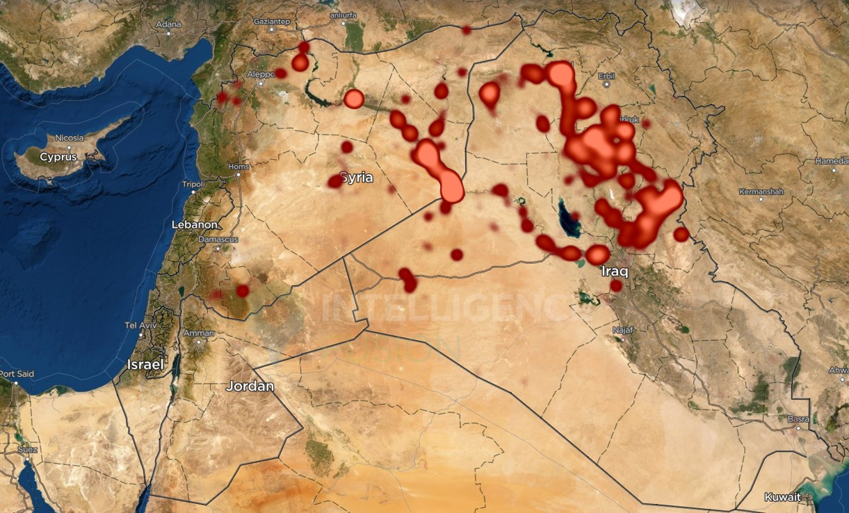 Heatmap of Islamic State Activity in the Middle East