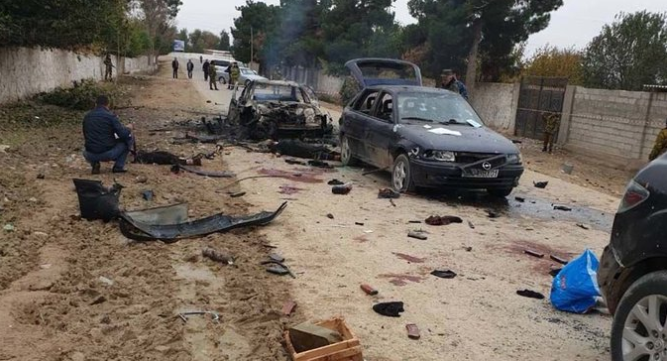 The convoy of vehicles that we're ambushed in Tajikistan by Islamic State