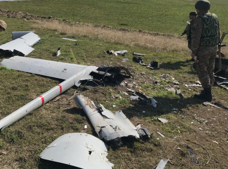 Azerbaijani drone wreckage claimed by the Armenian MoD