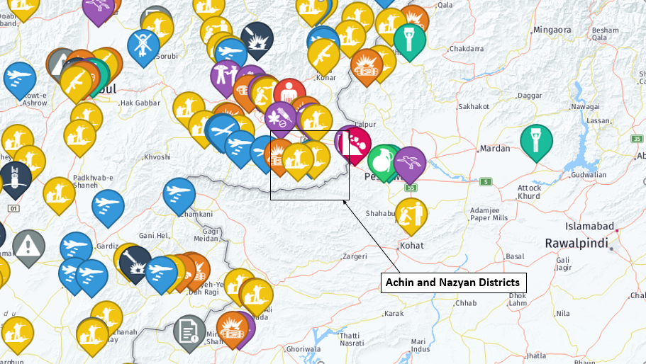 Fighting between IS and the Taliban also happens in the Achin district of Afghanistan