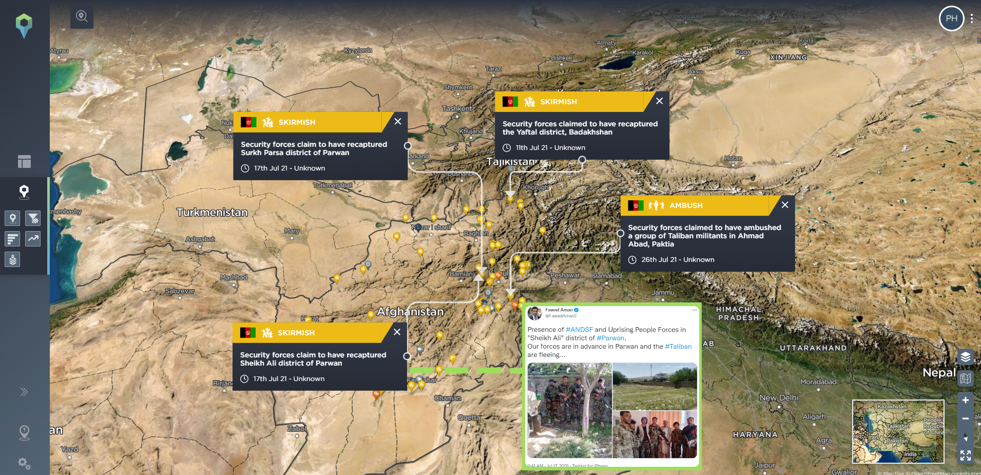 Afghan security forces Twitter