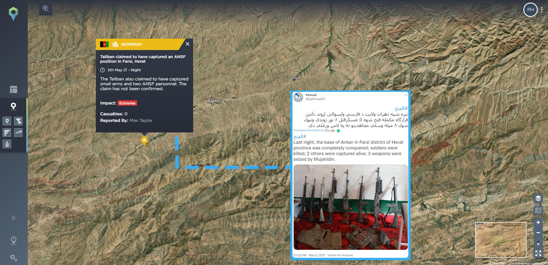 Taliban on Twitter claim capture Herat