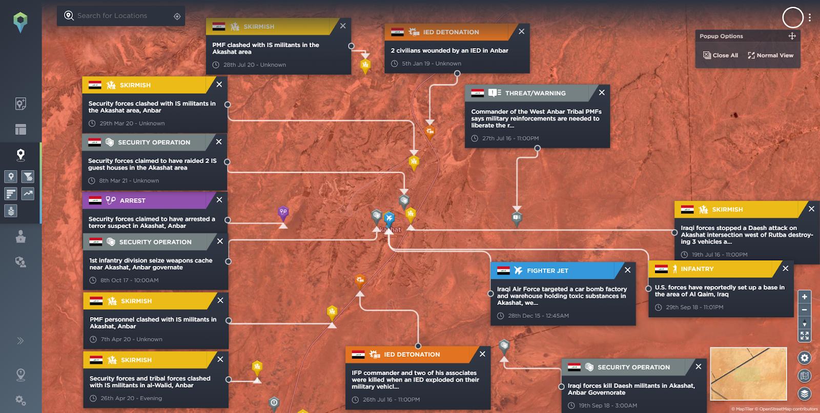 Akashat Phosphate Mining Operation Incidents