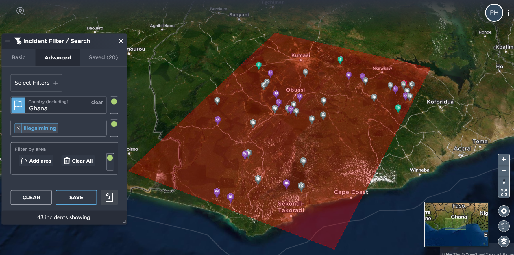 Tracking illegal mining in Ghana
