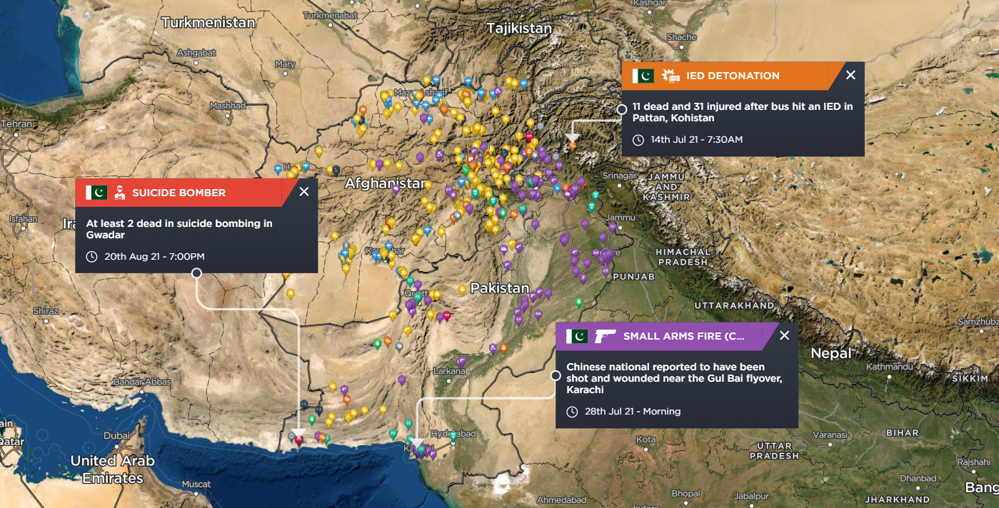 Recent attacks on Chinese workers in Pakistan