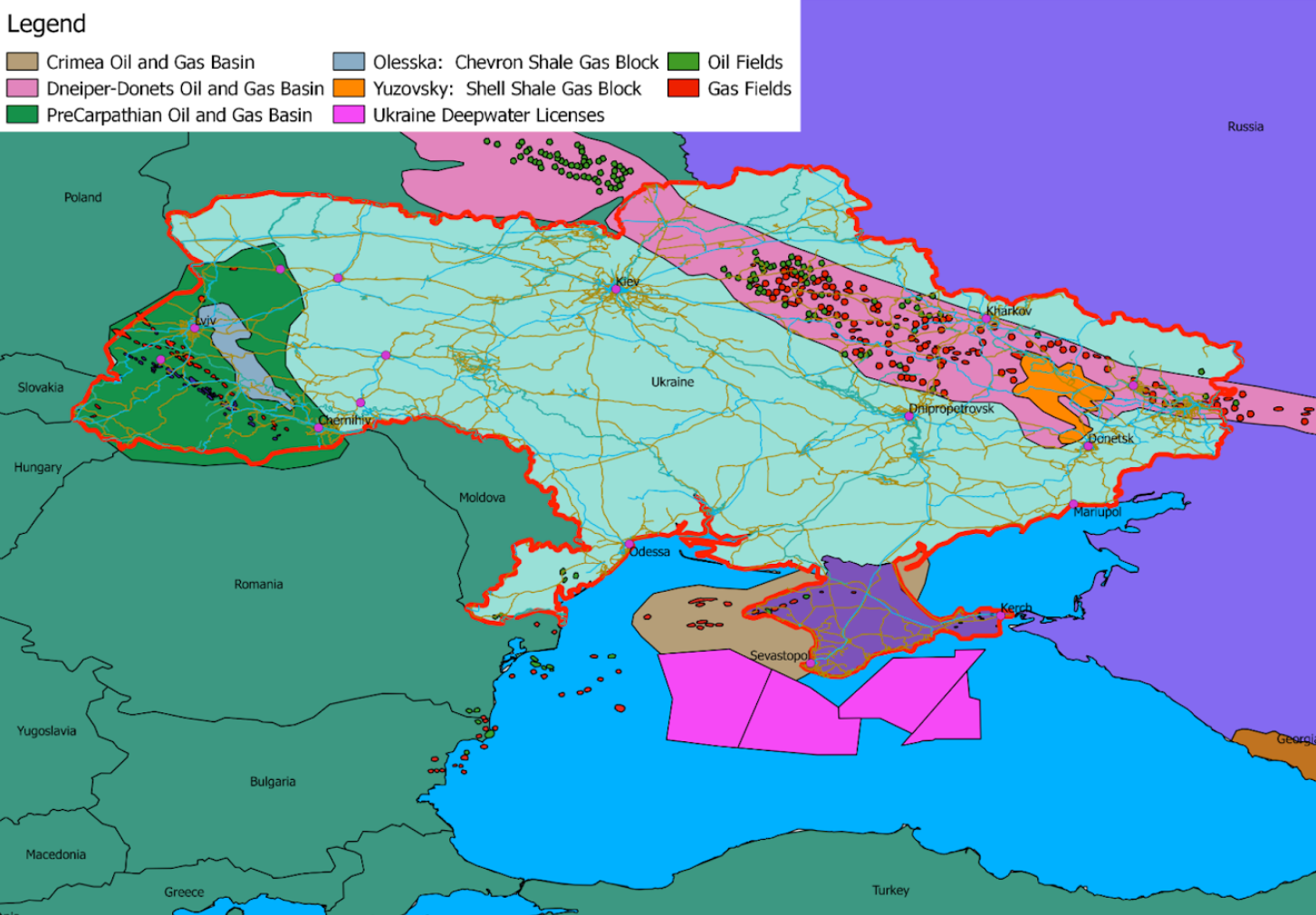 Ukraine's oil and gas resources