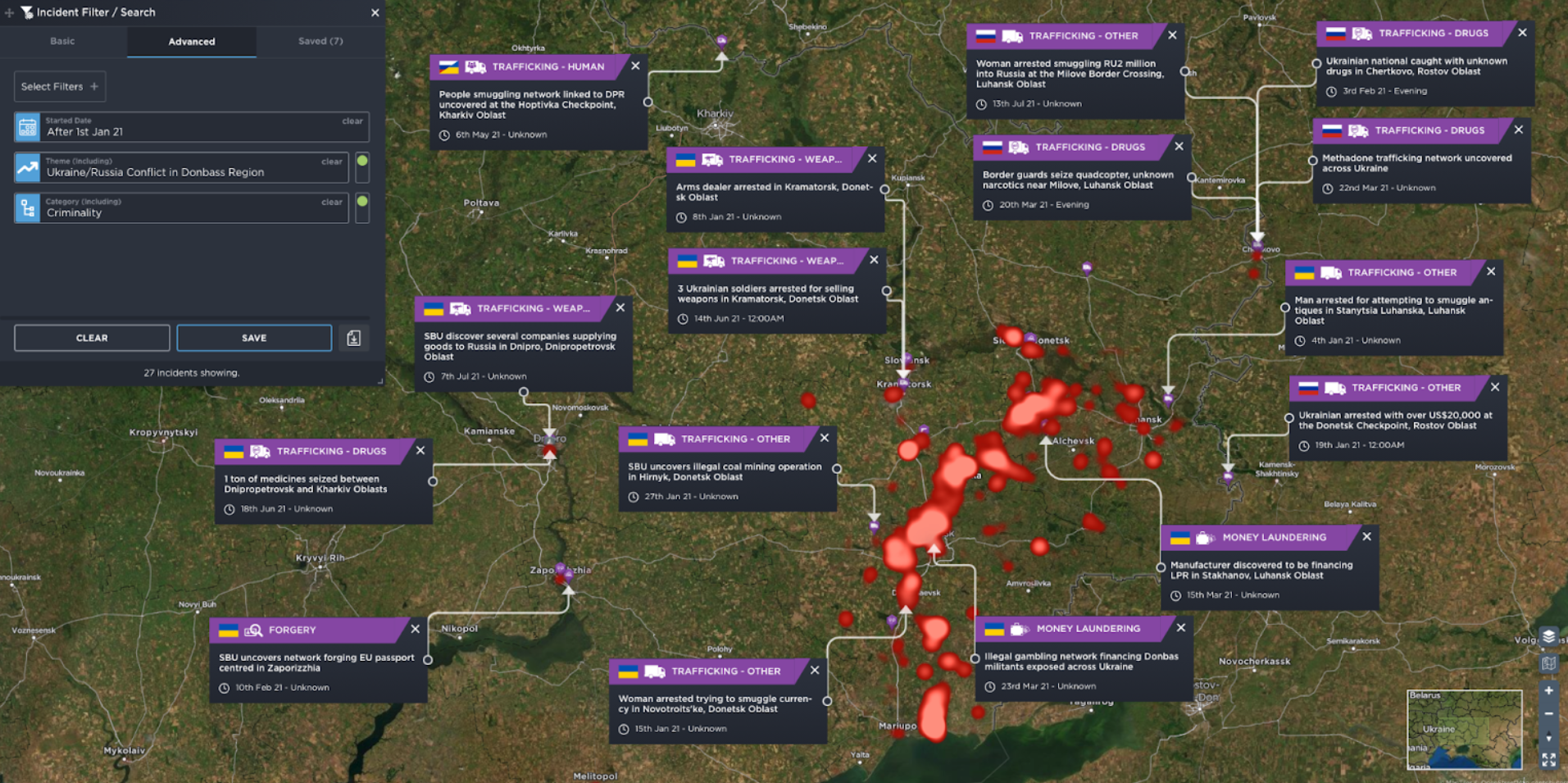 crime in ukraine russia war donbass conflict trafficking