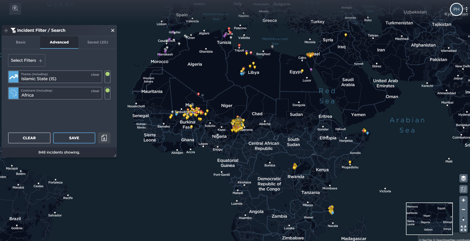 ISIS in Africa activity of Islamic State spread of violence